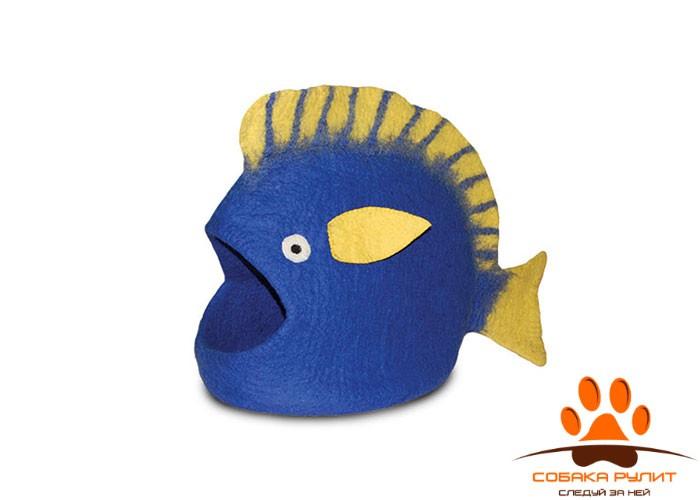 Домик DharmaDog KarmaCat «Рыба» (синий)