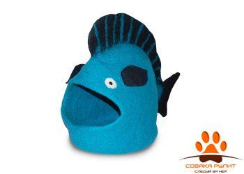 Домик DharmaDog KarmaCat «Рыба» (бирюзовый)