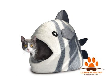 Домик DharmaDog KarmaCat «Рыба» (белый)