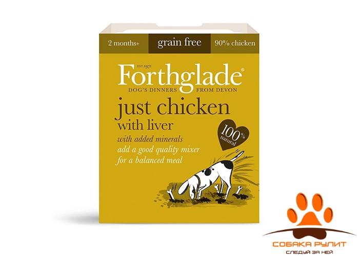 FORTHGLADE Мясо цыпленка с печенью Just Chicken with Liver Grain Free (395g)