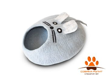 Домик DharmaDog KarmaCat «Мышка» (светло-голубой)