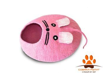 Домик DharmaDog KarmaCat «Мышка» (розовый)