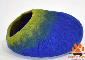 Домик DharmaDog KarmaCat «Омбре» (сине-зеленый)
