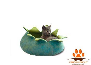 Домик-корзина DharmaDog KarmaCat Лепестки  (зеленый, в ассортименте)