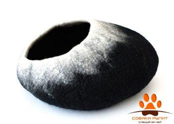 Домик DharmaDog KarmaCat «Омбре» (черно-белый)