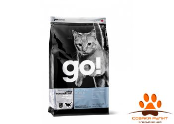 Корм GO! NATURAL Holistic беззерновой для котят и кошек с чувствительным пищеварением с минтаем, Sensitivity + Shine Grain Free Pollock Cat Recipe
