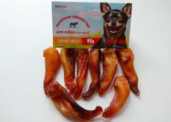 Лакомство для собак Бычий бибер «Крючки»