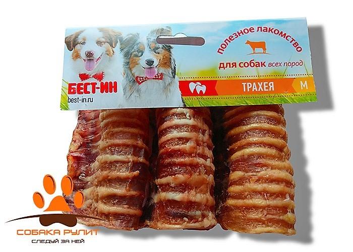 Лакомство для собак Трахея говяжья M