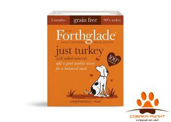 FORTHGLADE Just Turkey Grain Free. Мясо индейки. Беззерновое пате для взрослых собак 395 гр.