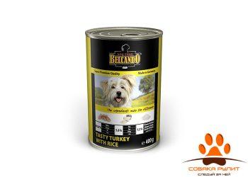 Belcando консервы для собак с индейкой с рисом