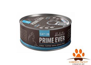 Prime Ever 2B Тунец с белой рыбой в желе влажный корм для кошек жестяная банка 0,08 кг
