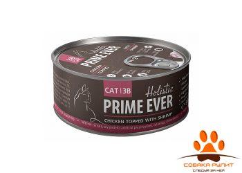 Prime Ever 3B Цыпленок с креветками в желе влажный корм для кошек жестяная банка 0,08 кг