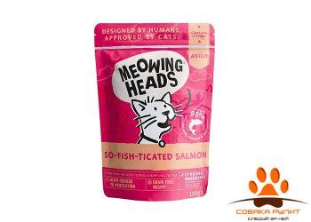 Barking Heads паучи для кошек и котят, с лососем, курицей и говядиной «Фиш-гурман» 100г