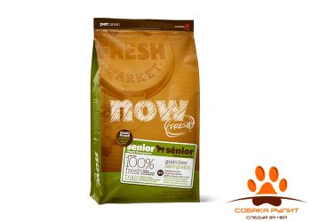 Корм NOW Natural holistic беззерновой для пожилых собак малых пород, с индейкой, уткой и овощами