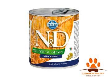 Farmina N&D Ancestral Grain Dog Wet Lamb & Blueberry