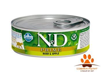 Farmina N&D Prime Cat Wet Boar & Apple 80г