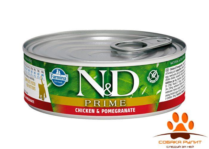 Farmina N&D Prime Cat Wet Chicken & Pomegranate Kitten 80г