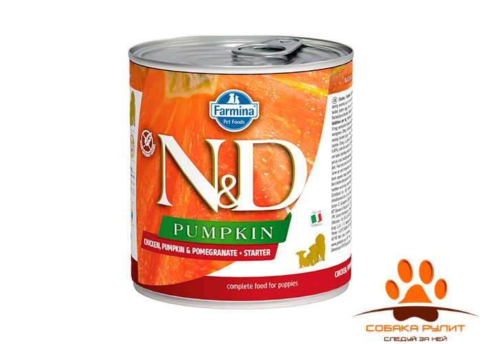 Farmina N&D Dog Pumpkin Wet Chicken & Pomegranate Starter Puppy