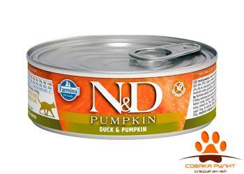 Farmina N&D Cat Pumpkin Wet Duck 80г