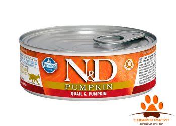 Farmina N&D Cat Pumpkin Wet Quail 80г