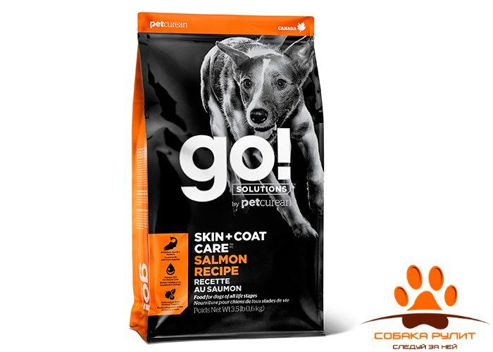 Корм GO! Natural для щенков и собак, со свежим лососем и овсянкой, Sensitivity + Shine Salmon Dog Recipe