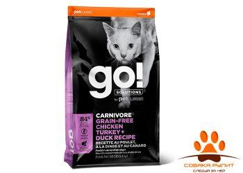 Корм GO! Natural беззерновой для котят и кошек «4 вида мяса: курица, индейка, утка и лосось», Fit + Free Grain Free Chicken, Turkey, Duck Cat Recipe