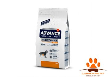 Advance корм для собак малых пород при ожирении, Weight balance mini