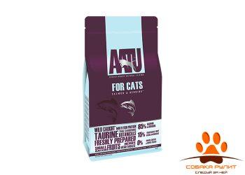 Корм AATU корм для взрослых кошек с лососем и сельдью, AATU CAT SALMON & HERRING