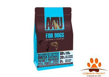 Корм AATU корм для взрослых собак с лососем и сельдью, AATU 80/20 SALMON & HERRING