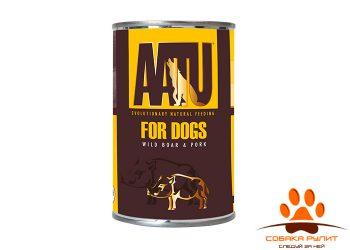 AATU консервы для взрослых собак, с мясом дикого кабана и свининой, AATU WILD BOAR & PORK 400г