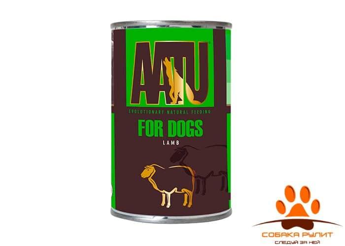 AATU консервы для взрослых собак, с ягненком, AATU LAMB 400г