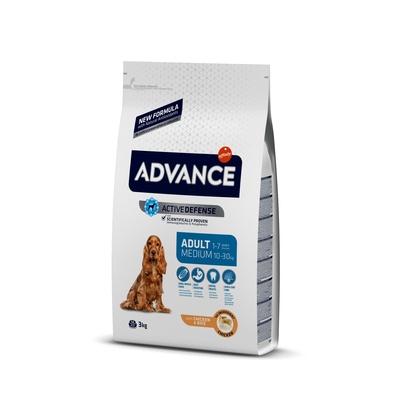 Корм Advance для собак, с курицей и рисом, Medium Adult