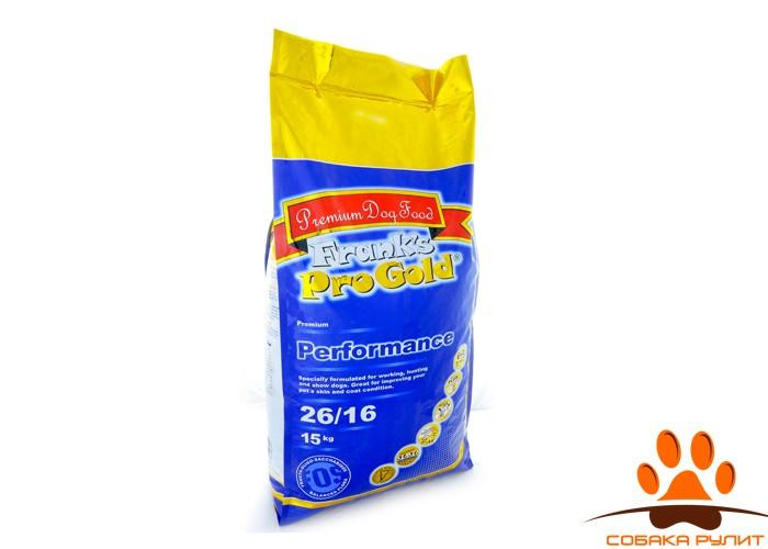 """Корм Frank's ProGold для энергичных собак """"Достойная победа"""", Performance 26/16"""
