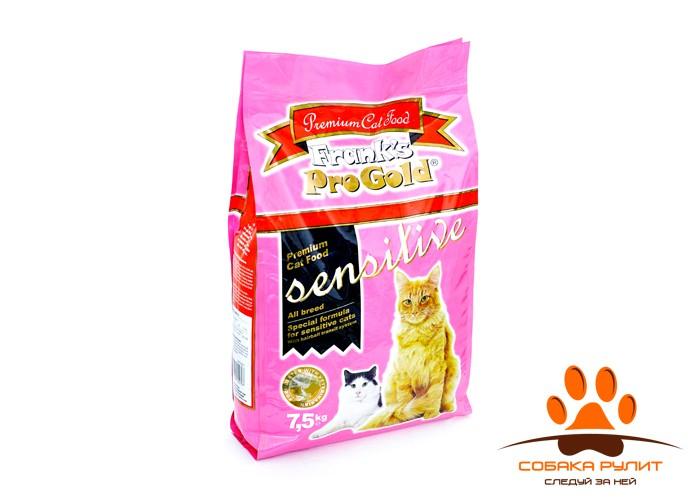 """Корм Frank's ProGold для кошек с чувствительным пищеварением """"Ягненок по-голландски"""", Sensitive 32/18"""