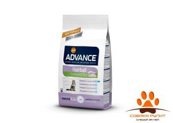 Advance Для вывода шерсти у кошек: индейка и рис (Hairball)