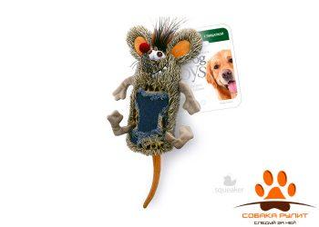 GiGwi Мышь с большой пищалкой