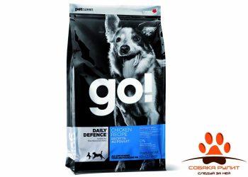 Корм GO! NATURAL Holistic для щенков и собак с цельной курицей, фруктами и овощами, DAILY DEFENCE™ Chicken Dog Recipe
