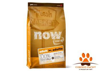 Корм NOW Natural holistic беззерновой для взрослых собак с индейкой, уткой и овощами