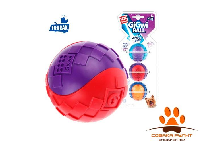 GiGwi Три мяча с пищалкой размер S