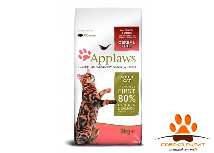 """Applaws Беззерновой корм для Кошек """"Курица и Лосось/Овощи: 80/20%"""" (Dry Cat Chicken & Salmon)"""
