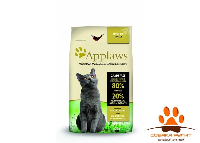 """Applaws Беззерновой корм для Пожилых кошек """"Курица/Овощи: 80/20%"""" (Dry Cat  Senior)"""