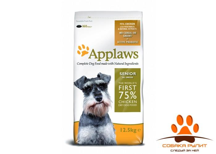 """Applaws Беззерновой корм для Пожилых собак """"Курица/Овощи: 75/25%"""" (Dry Dog Chicken Senior)"""