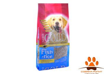 Nero Gold Для Взрослых собак: Рыбный коктейль, рис и овощи (Fish&Rice 24/13)