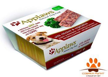 Applaws Паштет для Собак с Курицей и овощами (Dog Pate with Chicken & vegetables)150г