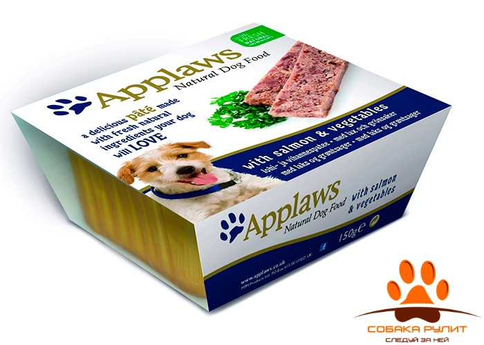 Applaws Паштет для Собак с Лососем и овощами (Dog Pate with Salmon & vegetables) 150г
