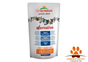 Almo Nature Alternative Корм со свежим цыпленком (55 % мяса) для кошек