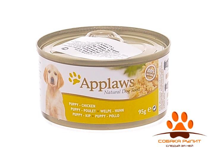 Applaws Консервы для Щенков с Курицей 95г