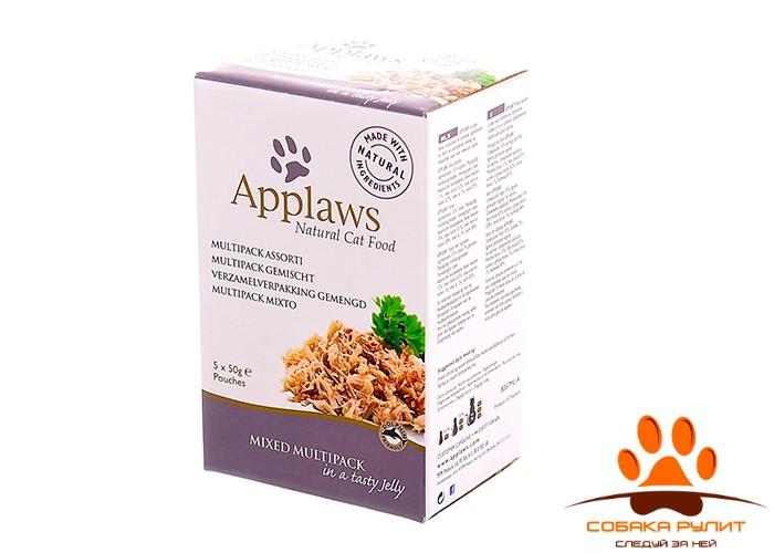 "Applaws Набор паучей для кошек ""Радуга вкусов в желе"" (Cat Jelly Pouch Multipack)"