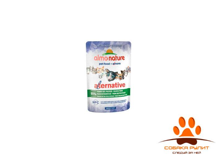 Almo Nature Alternative Паучи для кошек с тихоокеанским тунцом 91% мяса