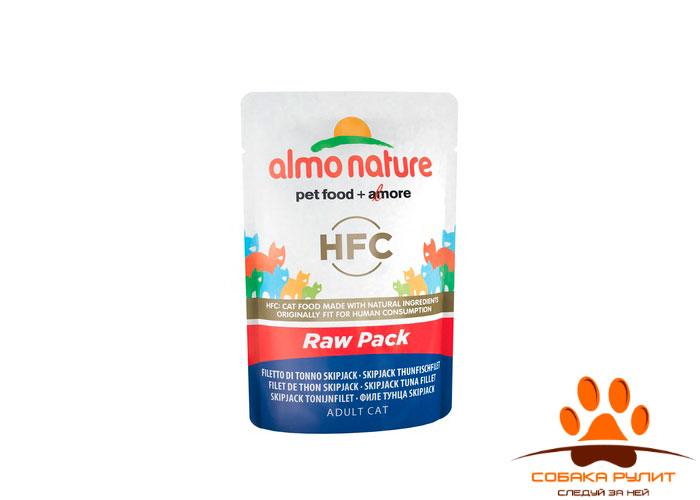 Almo Nature Raw Pack паучи 75% мяса 55г (в ассортименте)
